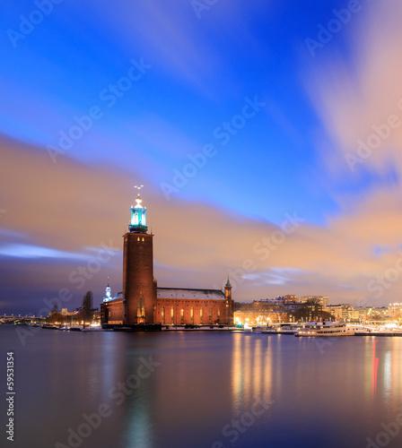Staande foto Stockholm Stockholm City Hall Sweden