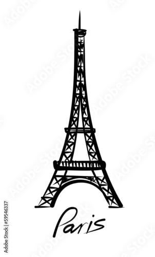 vector Eiffel tower Canvas Print