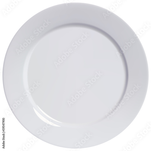 Plate empty, isolated. Vector illustration Fototapeta