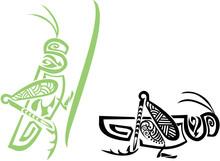 Stylized Tribal Grasshopper