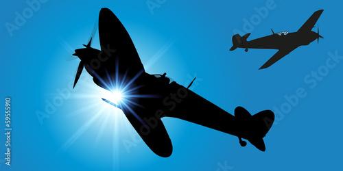 Photo AVION DE CHASSE 2eme Guerre Mondiale