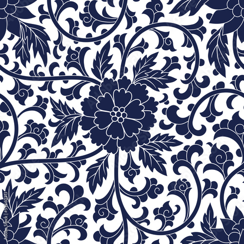 Photo  Seamless chinese pattern