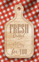 Fototapeta Do piekarni Poster light color lettering Fresh bread for you