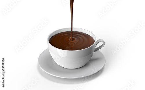 Foto op Canvas Chocolade chocolate cup