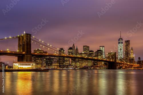 Printed kitchen splashbacks Brooklyn Bridge Brooklyn Bridge at Night