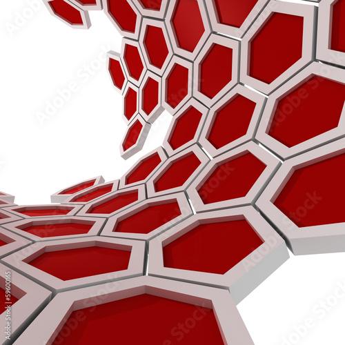 Naklejki na drzwi abstrakcyjny plaster miodu w owalu