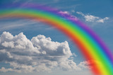 Fototapeta Rainbow - rainbow in the clouds.