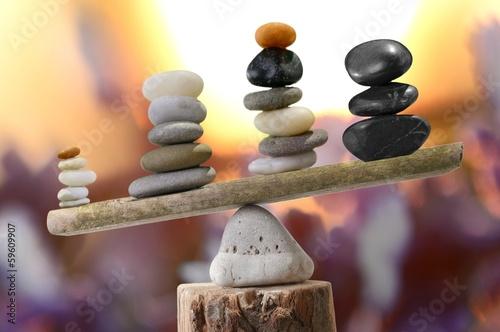 Plakat Steinpyramiden in Balance