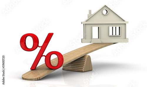 Fotografía  Большой процент по ипотеке. Концепция