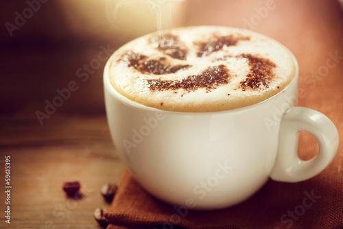 Fotografie, Obraz  Cappuccino. Cup of Cappuccino Coffee