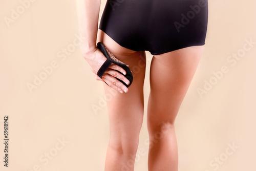 Obraz masaż ud - fototapety do salonu