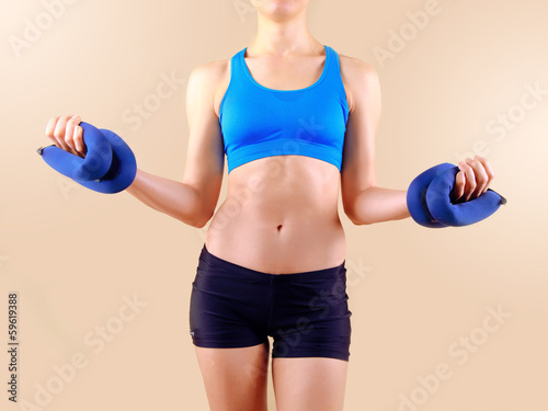 Obraz fitness woman - fototapety do salonu