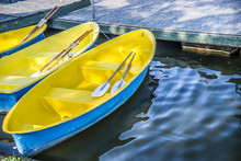 Yellow Boat In The Pool