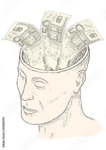 Fotografie, Obraz  soldi in testa