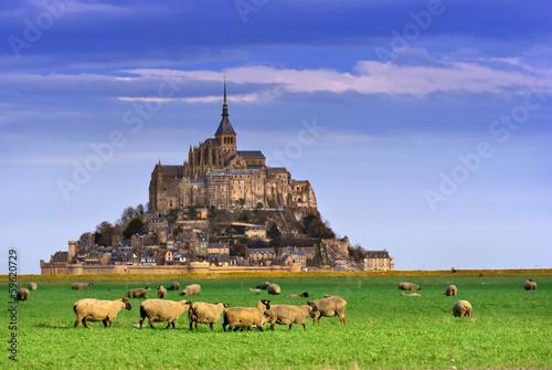mont saint michel (normandie) Fotobehang