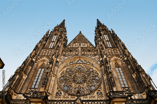 Fotografie, Obraz  Saint Vitus Cathedral facade in Prague, Czech Republic