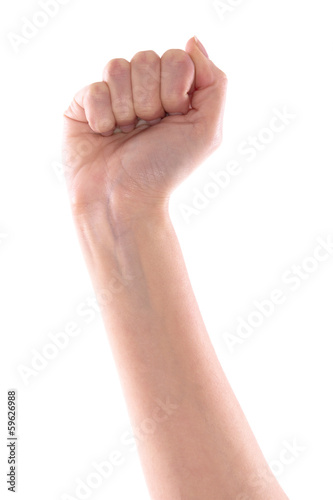 Right hand raised fist