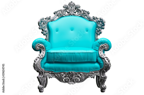Fotografie, Obraz  Baroque armchair