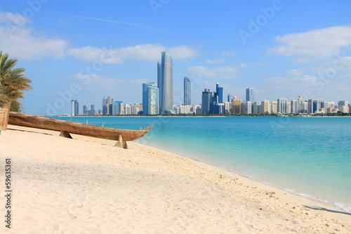 Canvas Prints Abu Dhabi Skyline von Abu Dhabi