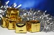 Cute golden gift box