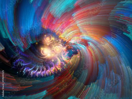 Staande foto Fractal waves Colorful Background