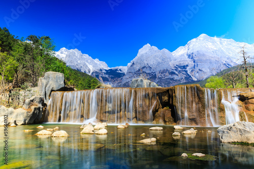 Poster Chine Lijiang: Jade Dragon Snow Mountain