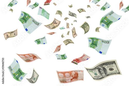 Pinturas sobre lienzo  Currency trading euro-dollar.