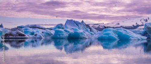Aluminium Prints Glaciers Jökulsárlón lake