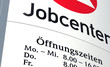 canvas print picture - Schild Jobcenter