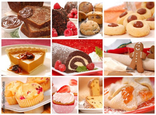 Collage showing a variety of baked goods - 59654168