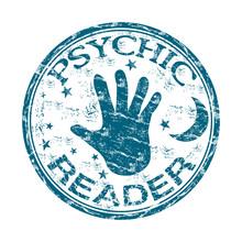 Psychic Reader Rubber Stamp