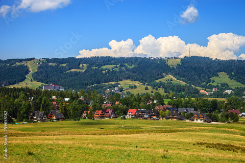 Gubalowka view near Zakopane, Poland.