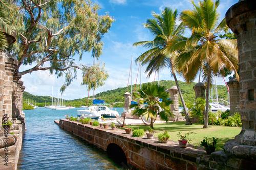 Nelson's Dockyard near Falmouth, Antigua, Caribbean Canvas Print