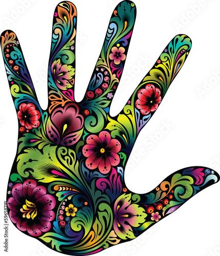 Fotografie, Obraz  Hand in the flowers II