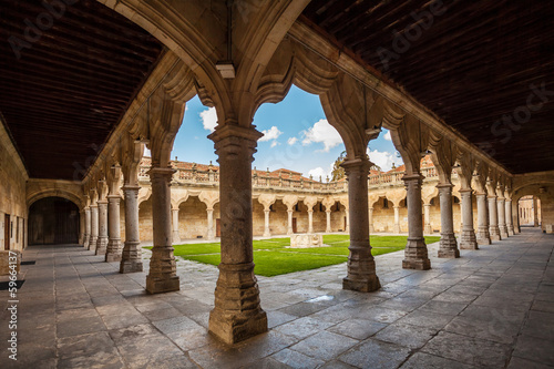Historic cloister in Salamanca