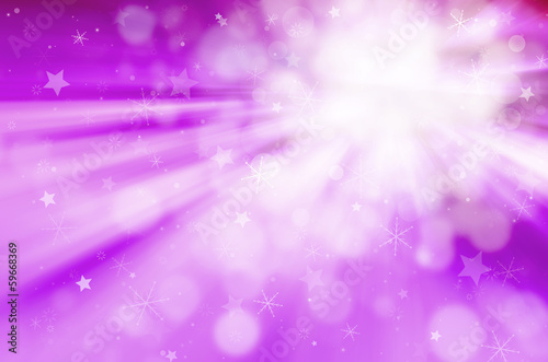 christmas abstract background with starlight and snowflakes.