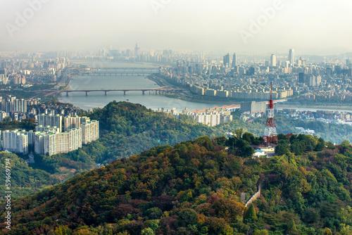 Fotobehang Seoel N Seoul Tower