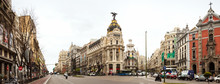 Panorama Of Crossing The Calle...