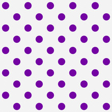 Bright Purple Polka Dots On Wh...