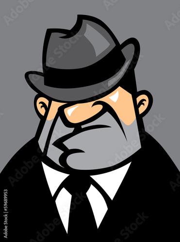 fat mafia potrait Canvas Print