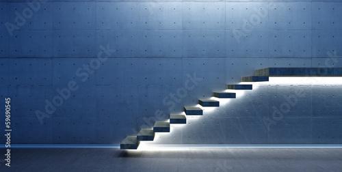 Slika na platnu Interior scene with stair