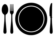 Fork, Knife, Spoon And Plate
