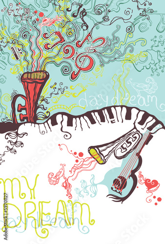 My dream. Musical illustrations.