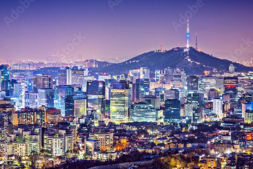 Photo sur Aluminium Seoul Seoul Skyline