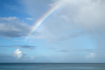 Rainbow Over the Caribbean Sea