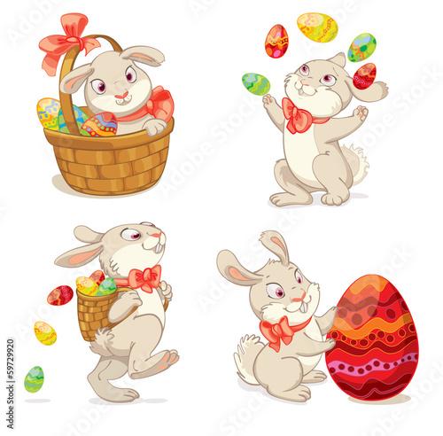 La pose en embrasure Ours Happy Easter