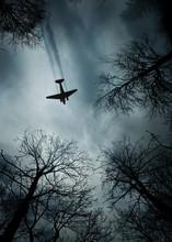Plane World War II Era In Flight