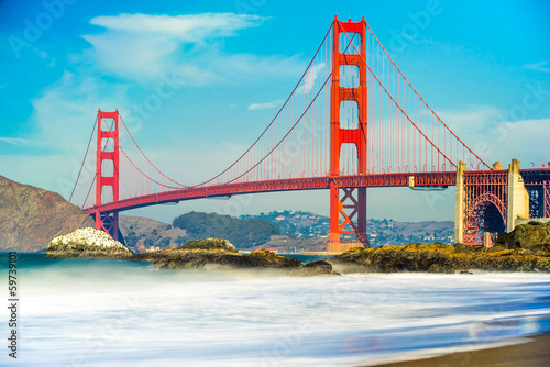 Keuken foto achterwand San Francisco Golden Gate, San Francisco, California, USA.