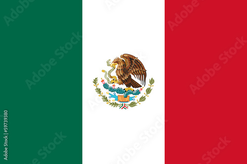 Photo sur Aluminium Mexique Mexico Flag