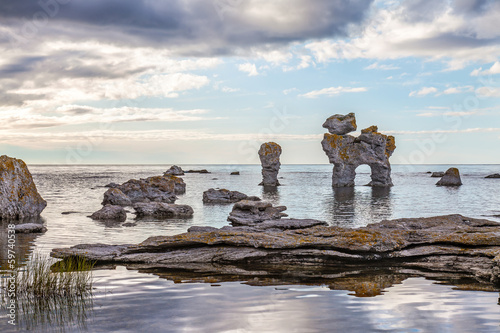 Photo  Rock formation on Gotland